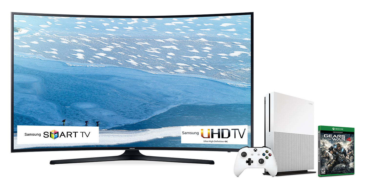 "Samsung 65"" 4K UHD Smart LED with FREE Xbox One Bundle - UN65KU6490FXZC/XBOX ONE"