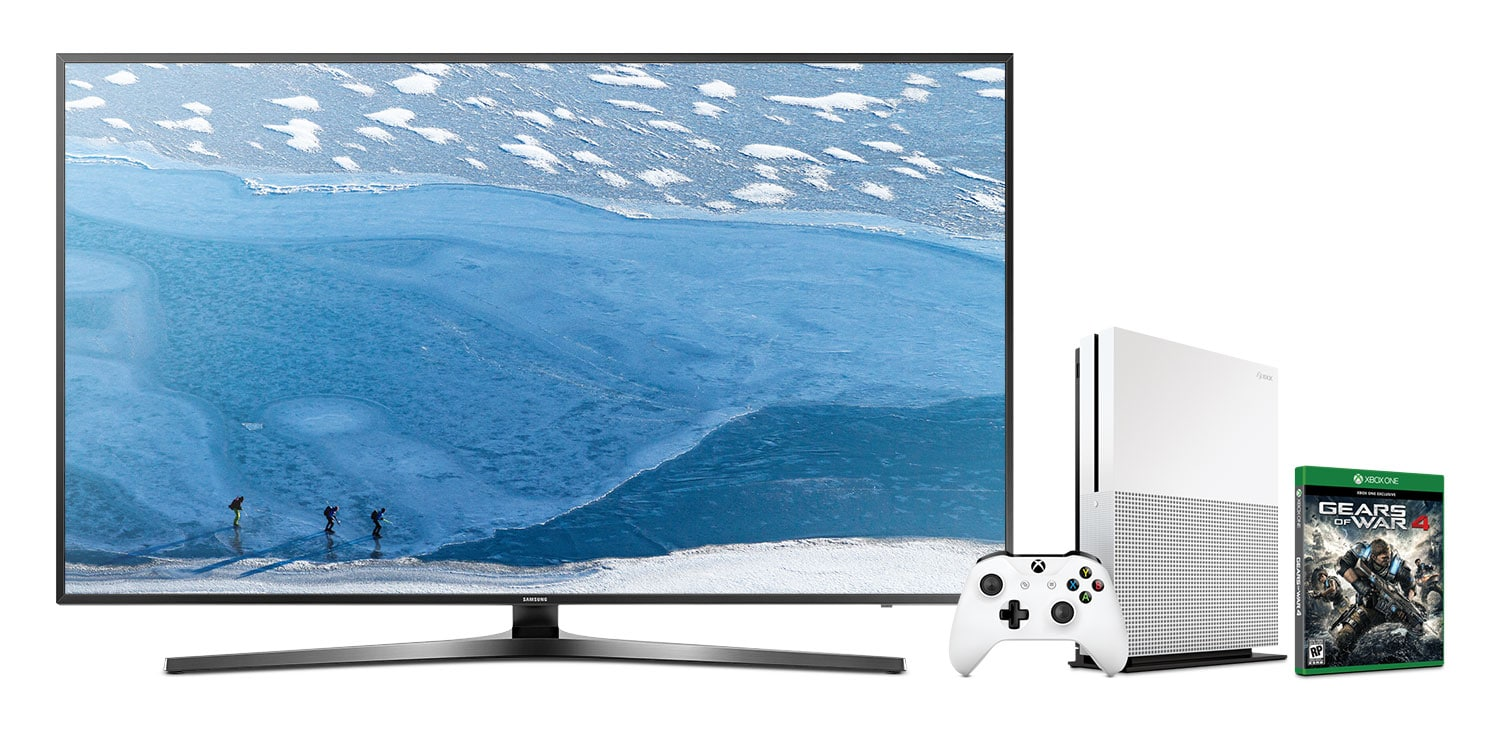 "Televisions - Samsung 55"" 4K UHD Smart LED with FREE Xbox One Bundle - UN55KU7000FXZC/XBOX ONE"