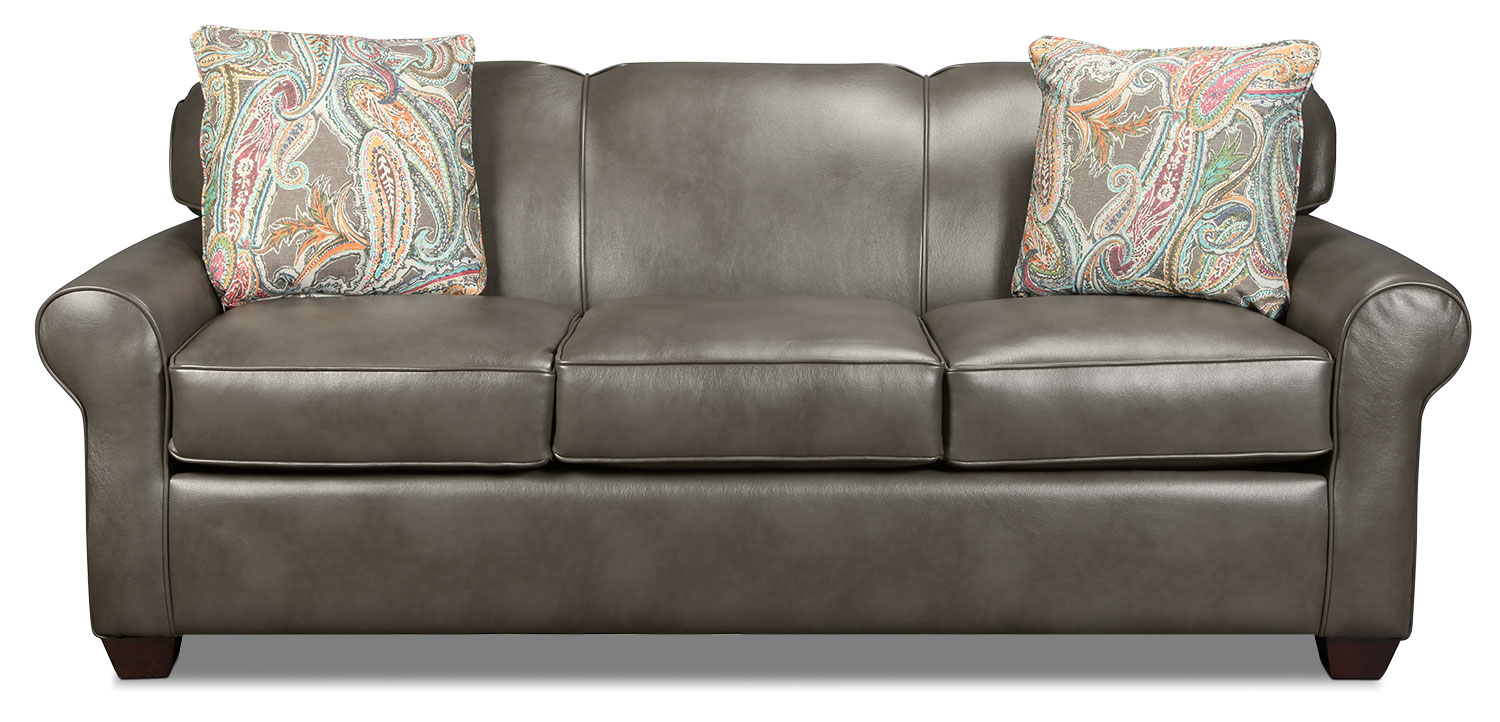Virtual Queen Sleeper Sofa - Steel