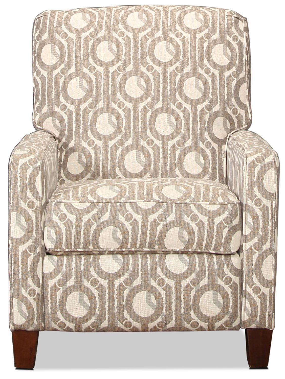 Living Room Furniture - Sacremento High-Leg Recliner - Geometric