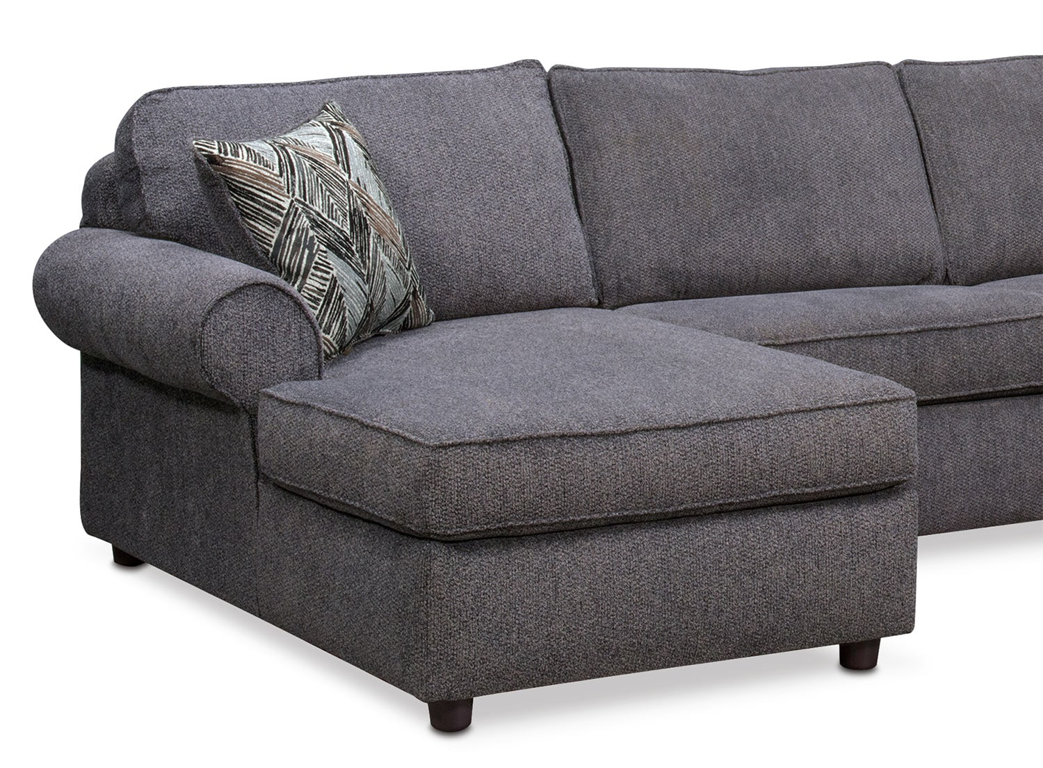 Lakelyn 3 Piece Sectional With 2 Chaises Charcoal