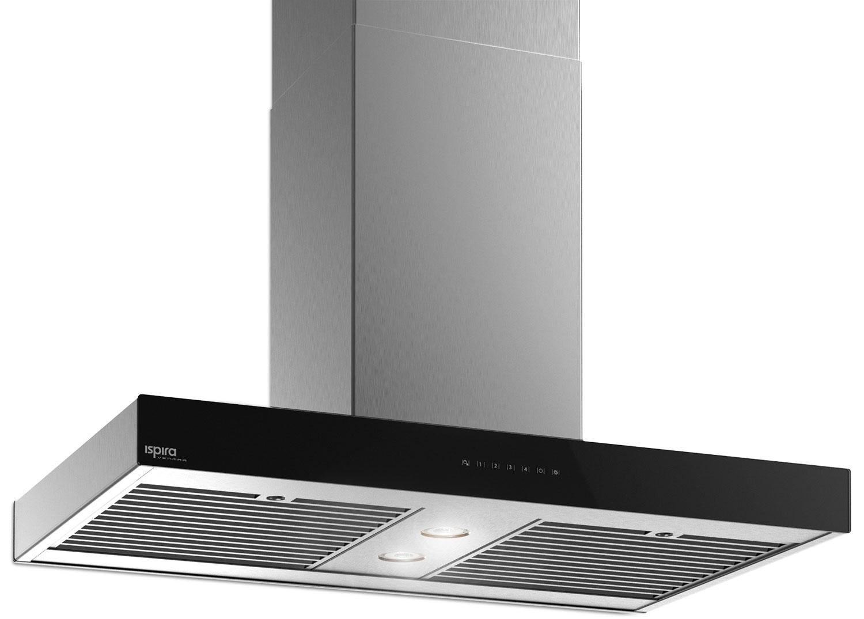 "Cooking Products - Venmar Ispira 36"" Island Range Hood – Black Panel IS70036BL"