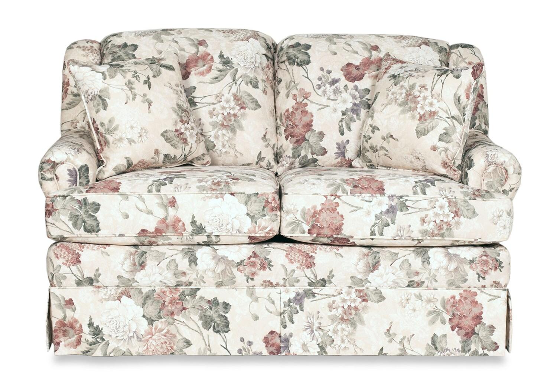 Living Room Furniture - Sofia Glider Loveseat - Floral