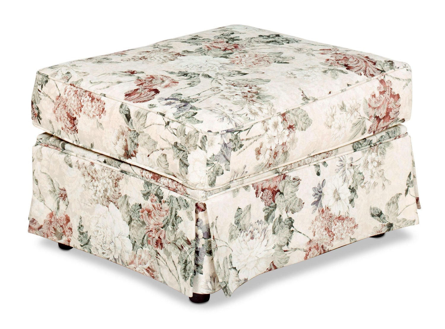 Living Room Furniture - Sofia Ottoman - Floral