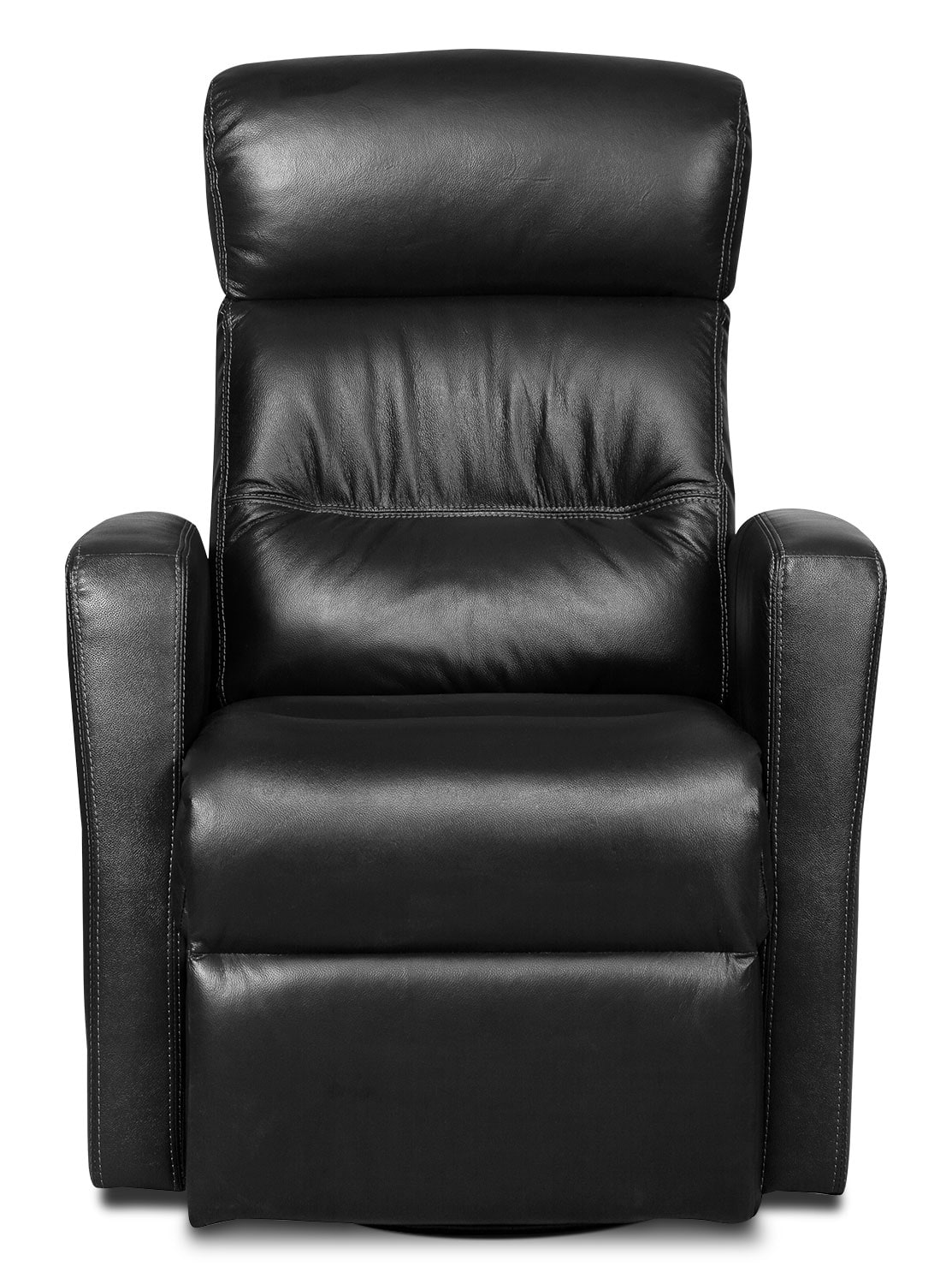 Penny Genuine Leather Swivel Rocker Reclining Chair Black United Furniture Warehouse