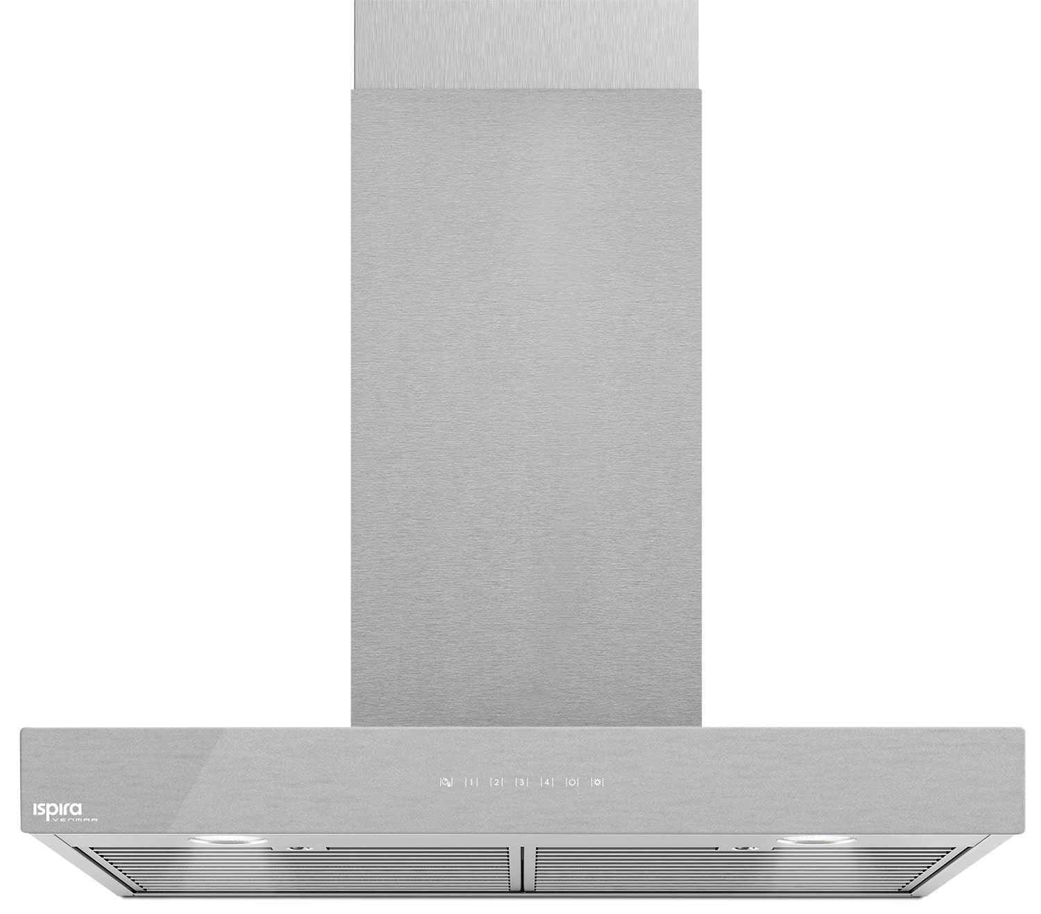 "Venmar Ispira 36"" Chimney Range Hood – Brushed Grey Panel IC70036SS"