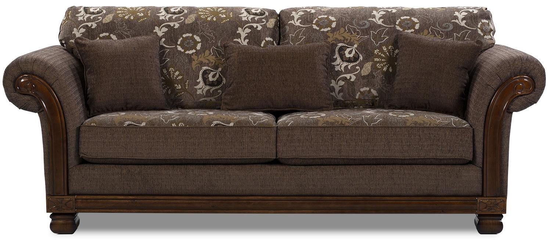 Hazel chenille sofa quartz the brick for Sectional sofas the brick