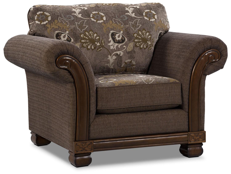 Living Room Furniture - Hazel Chenille Chair - Quartz