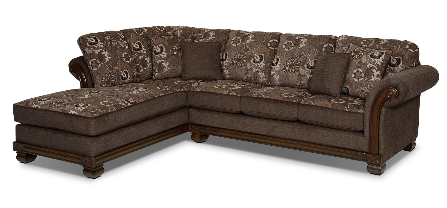 Living Room Furniture - Hazel 2-Piece Chenille Left-Facing Sectional - Quartz