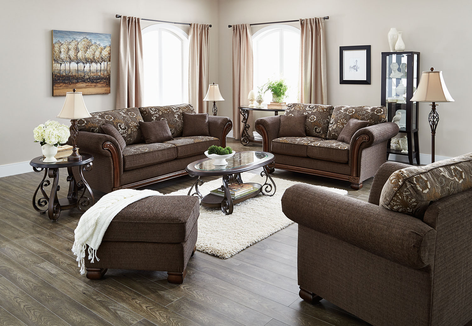 Livingroom Decoration With Brown Leather Sofa Extravagant