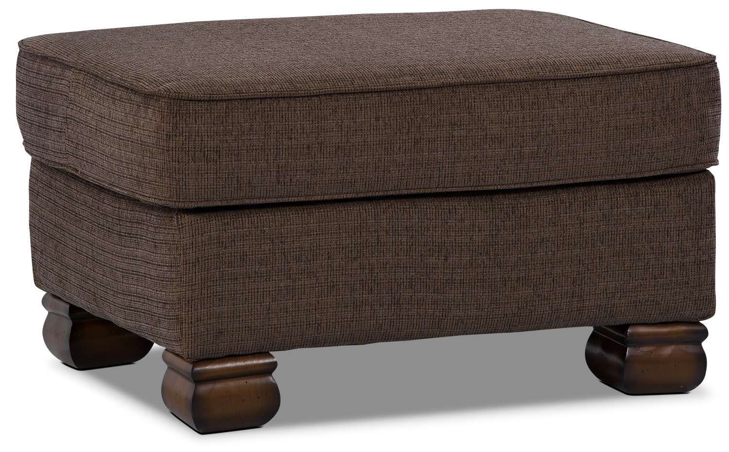 Living Room Furniture - Hazel Chenille Ottoman - Quartz
