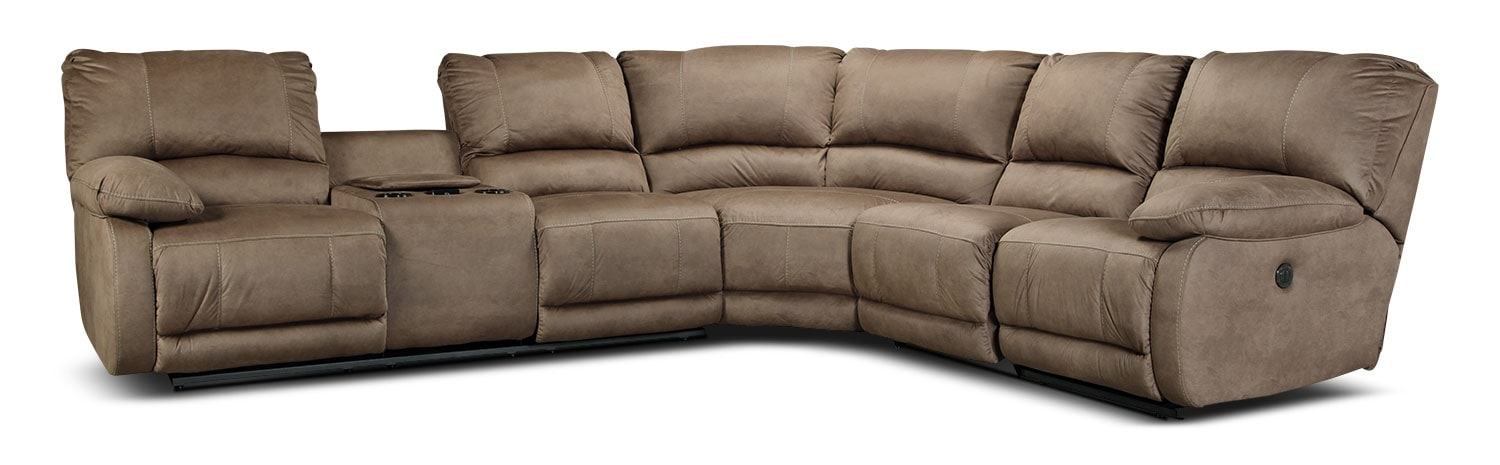 Newhall 4-Piece Power Reclining Sectional - Taupe
