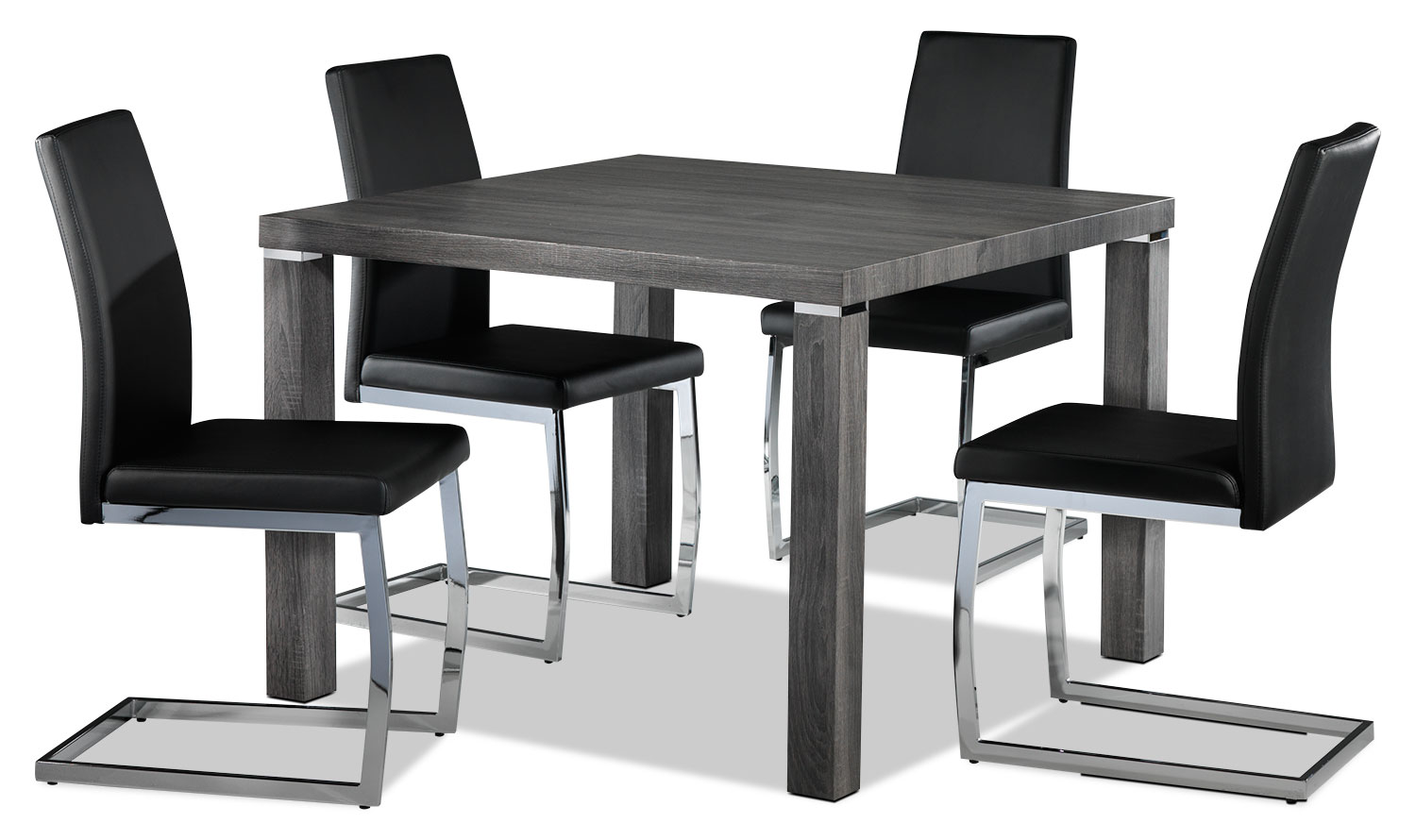 Albert 5-Piece Dinette Set - Charcoal