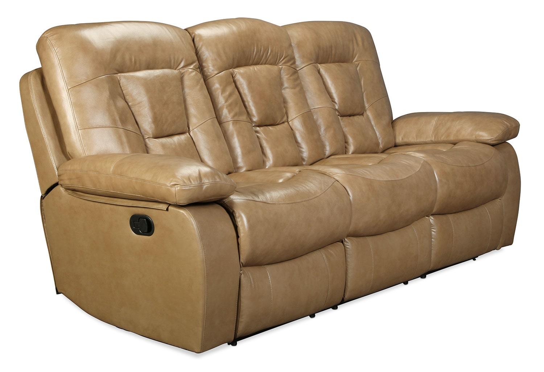 Living Room Furniture - Buckman Reclining Sofa - Taupe