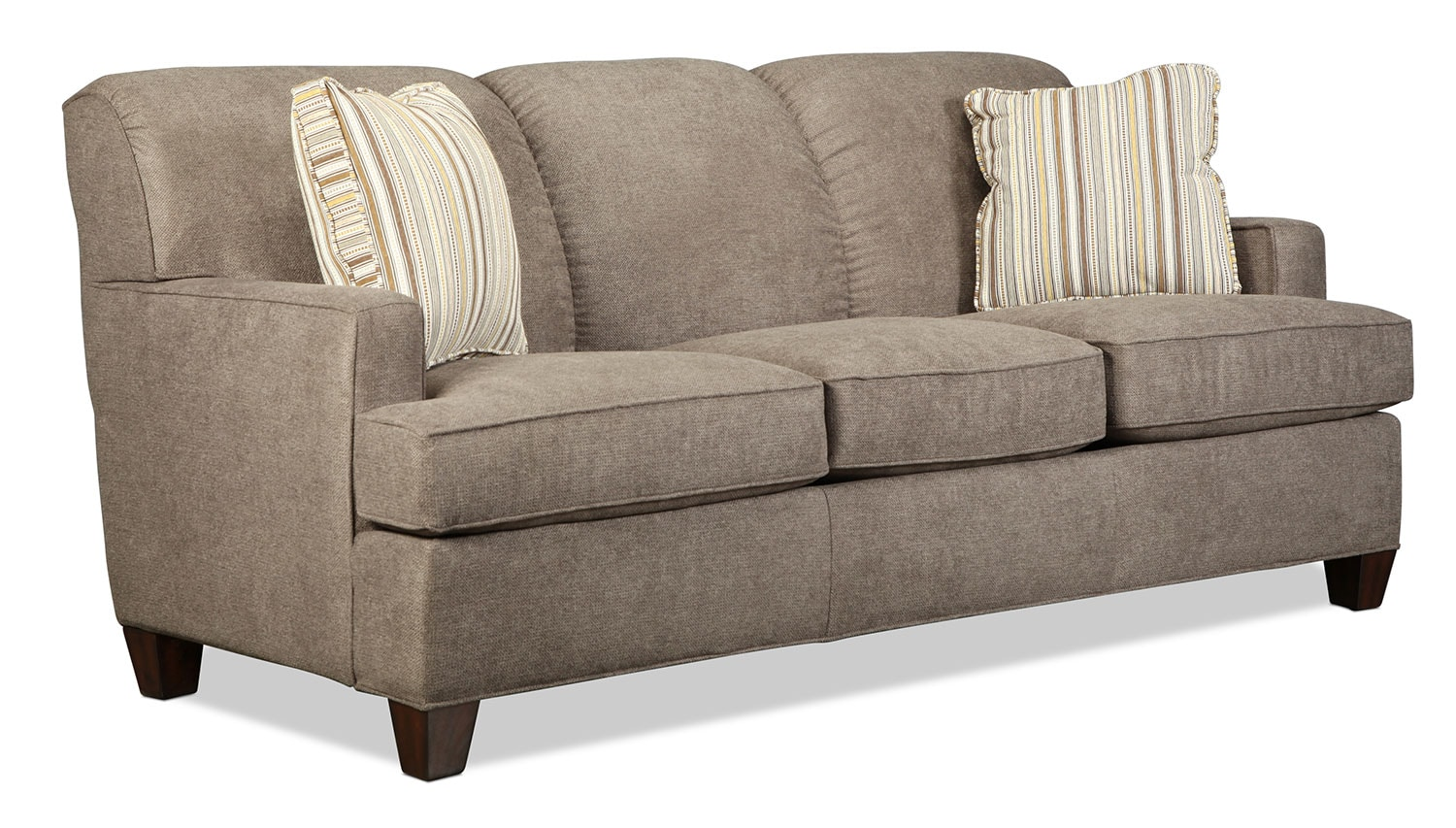 Lonsdale sofa tan levin furniture for Levin furniture sectional sofa