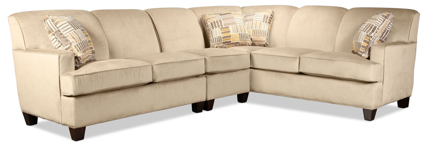 Lonsdale 3-Piece Left-Facing Sectional - Tan