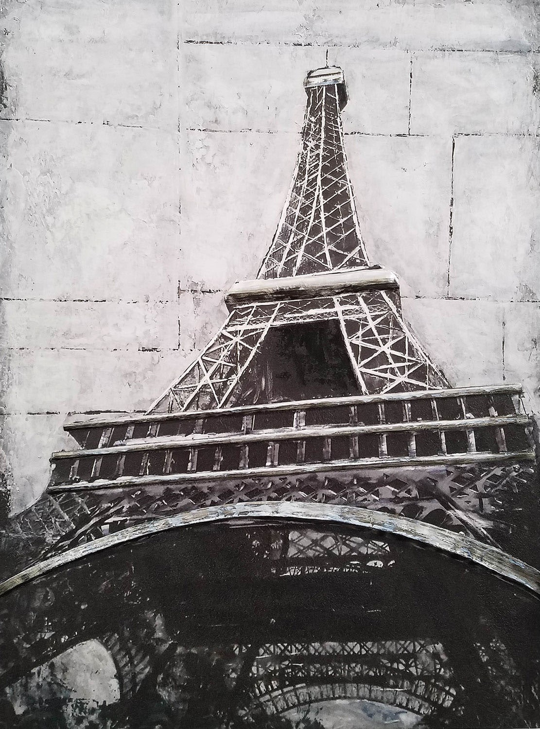 Accent and Occasional Furniture - Eiffel Tower Metal Canvas Art