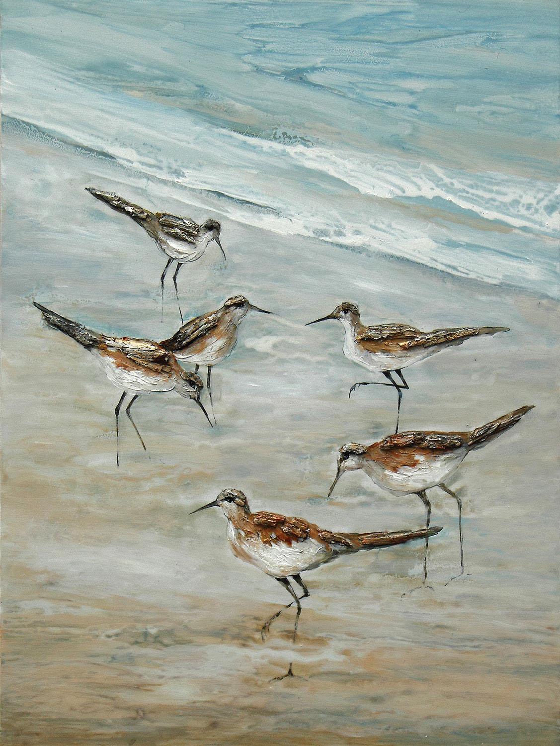 "Accent and Occasional Furniture - Beach Birds Canvas Art (36"" X 48"")"