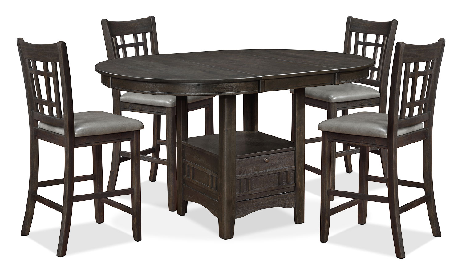 Dining Room Furniture - Dana 5-Piece Counter-Height Dining Package