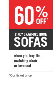 60% OFF CINDY CRAWFORD HOME SOFAS