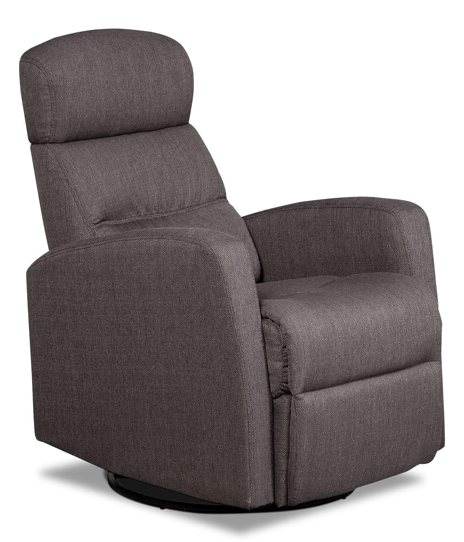 Penny Linen Look Fabric Swivel Rocker Reclining Chair Grey