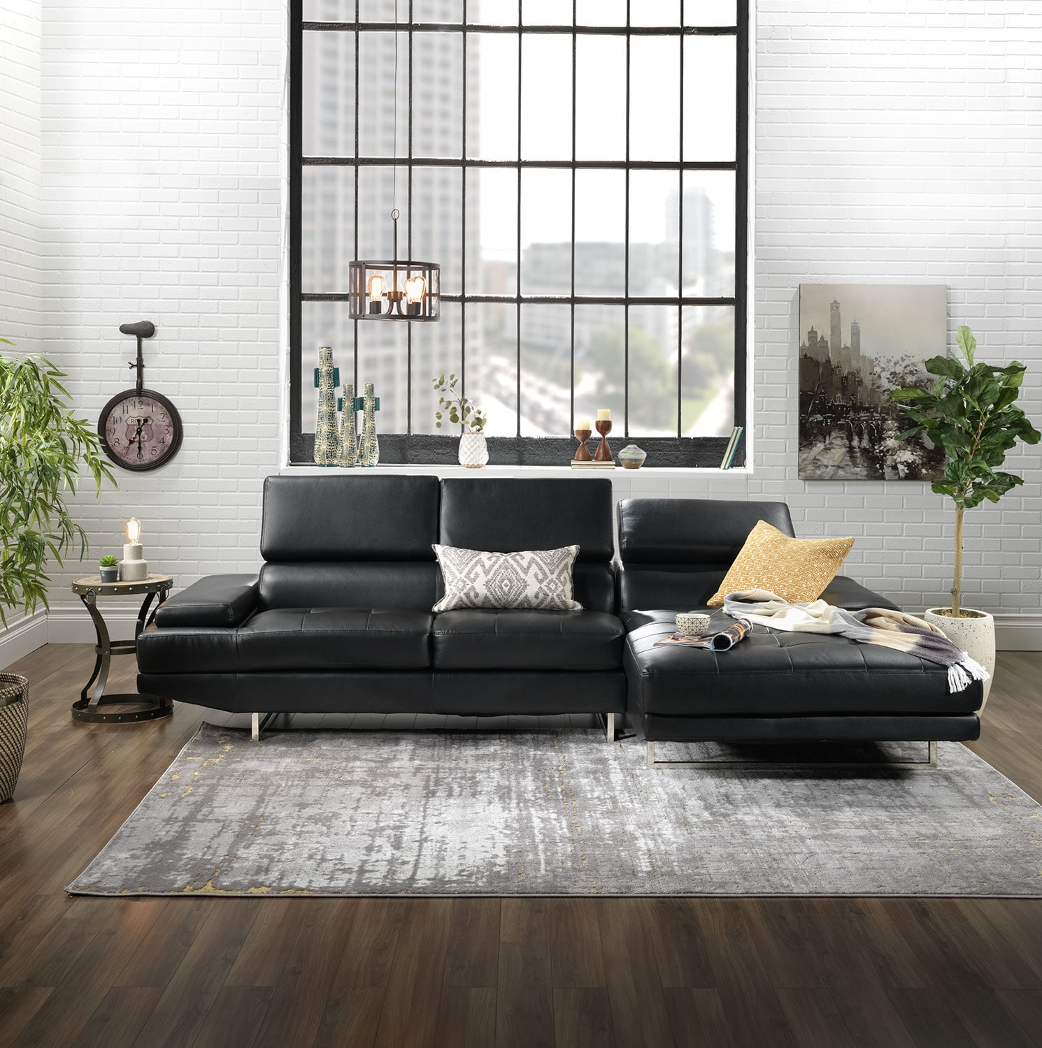 Zamora 2 Piece Sectional Charcoal