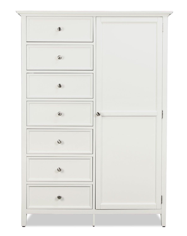 Bedroom Furniture - Ellsworth Gentleman's Chest - White