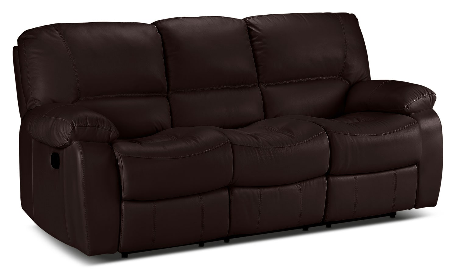 Living Room Furniture - Piermont Reclining Sofa - Chocolate