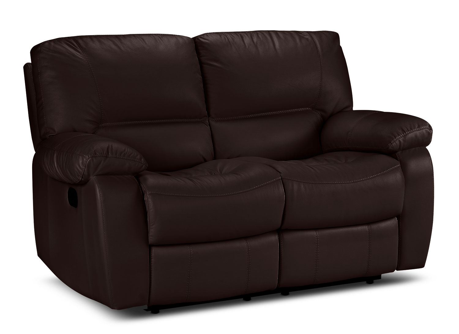 Living Room Furniture - Piermont Reclining Loveseat - Chocolate