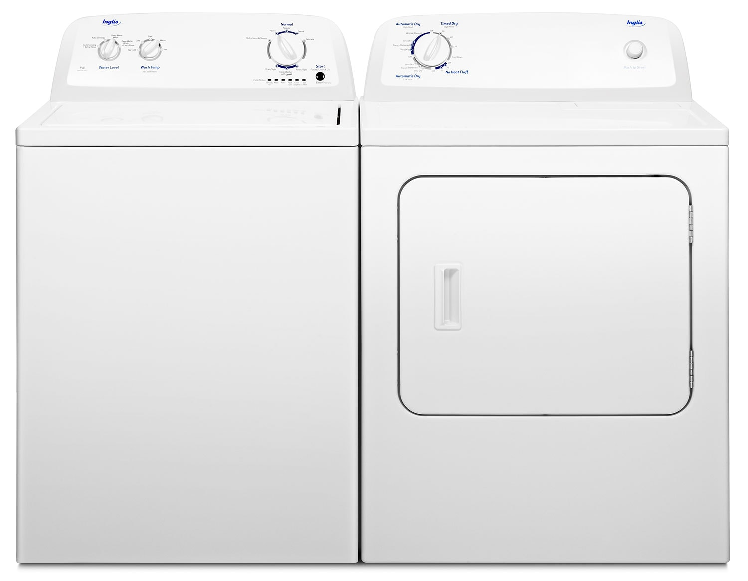 Inglis 4.0 Cu. Ft. Top-Load Washer and 6.5 Cu. Ft. Electric Dryer – White