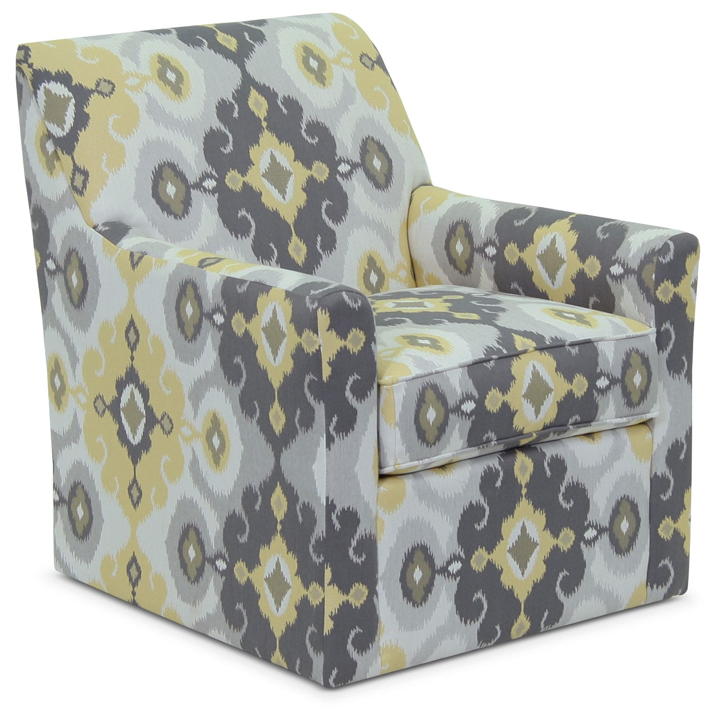 Designed2B Fabric Accent Swivel Chair – Butter