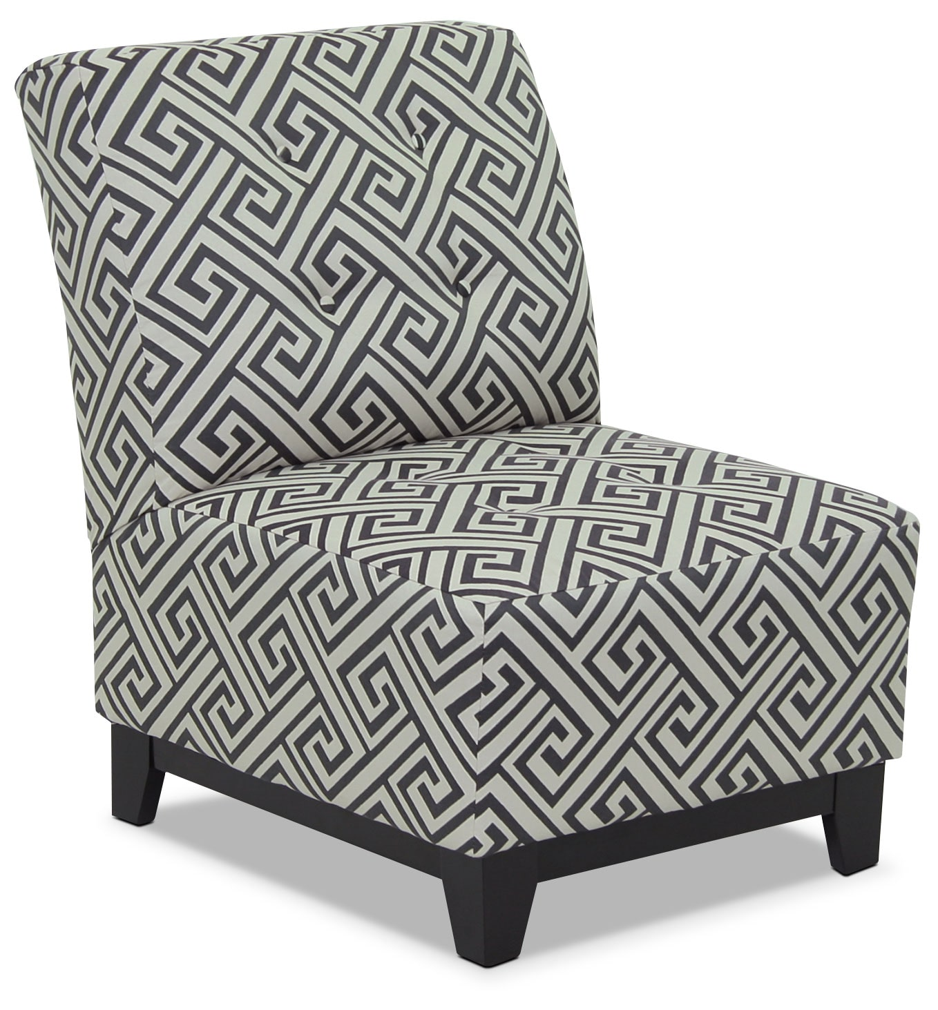 Living Room Furniture - Designed2B Fabric Accent Armless Chair – Domino