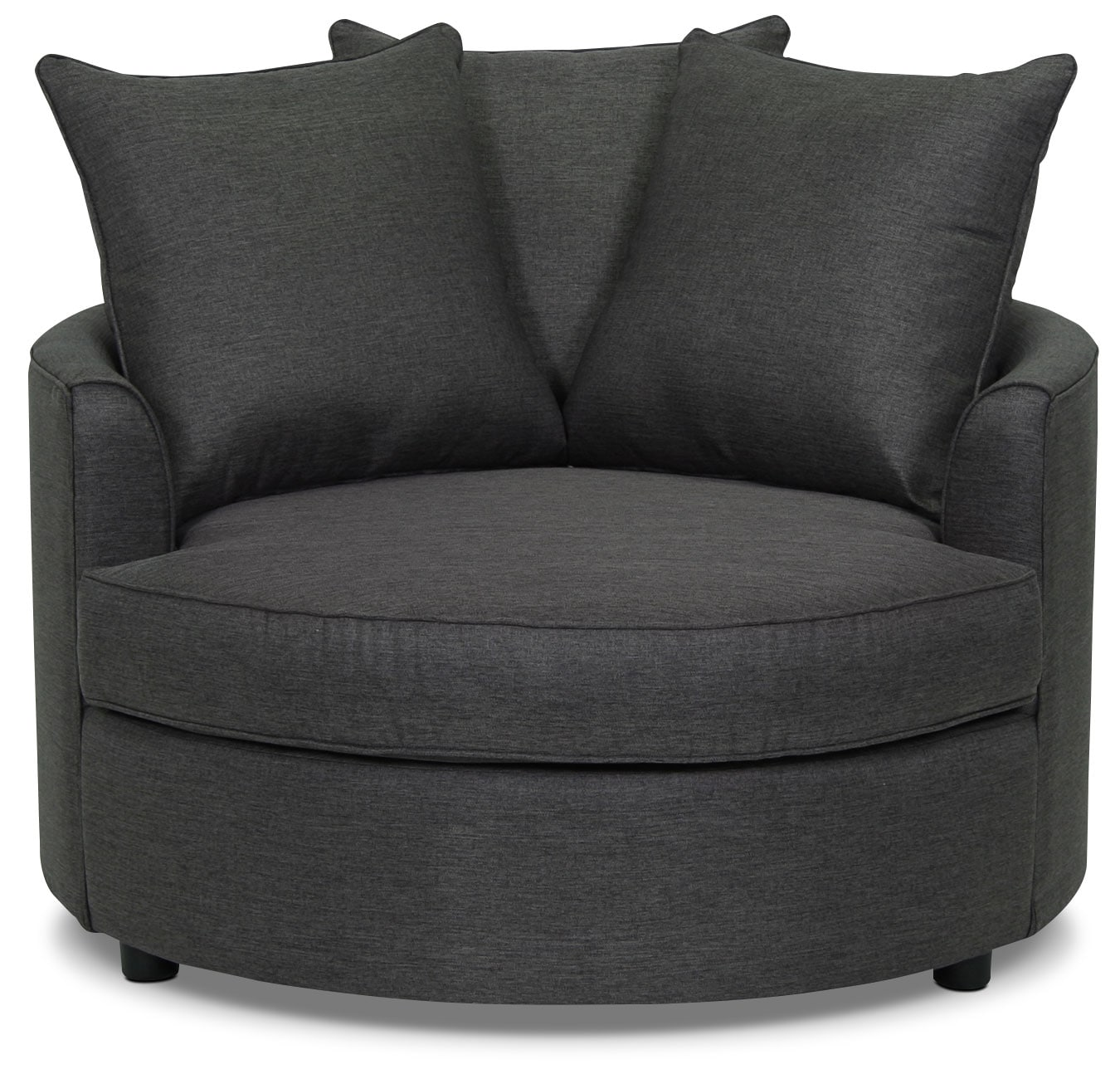 Living Room Furniture - Designed2B Linen-Look Fabric Accent Nesting Chair – Sophisticate Aluminum