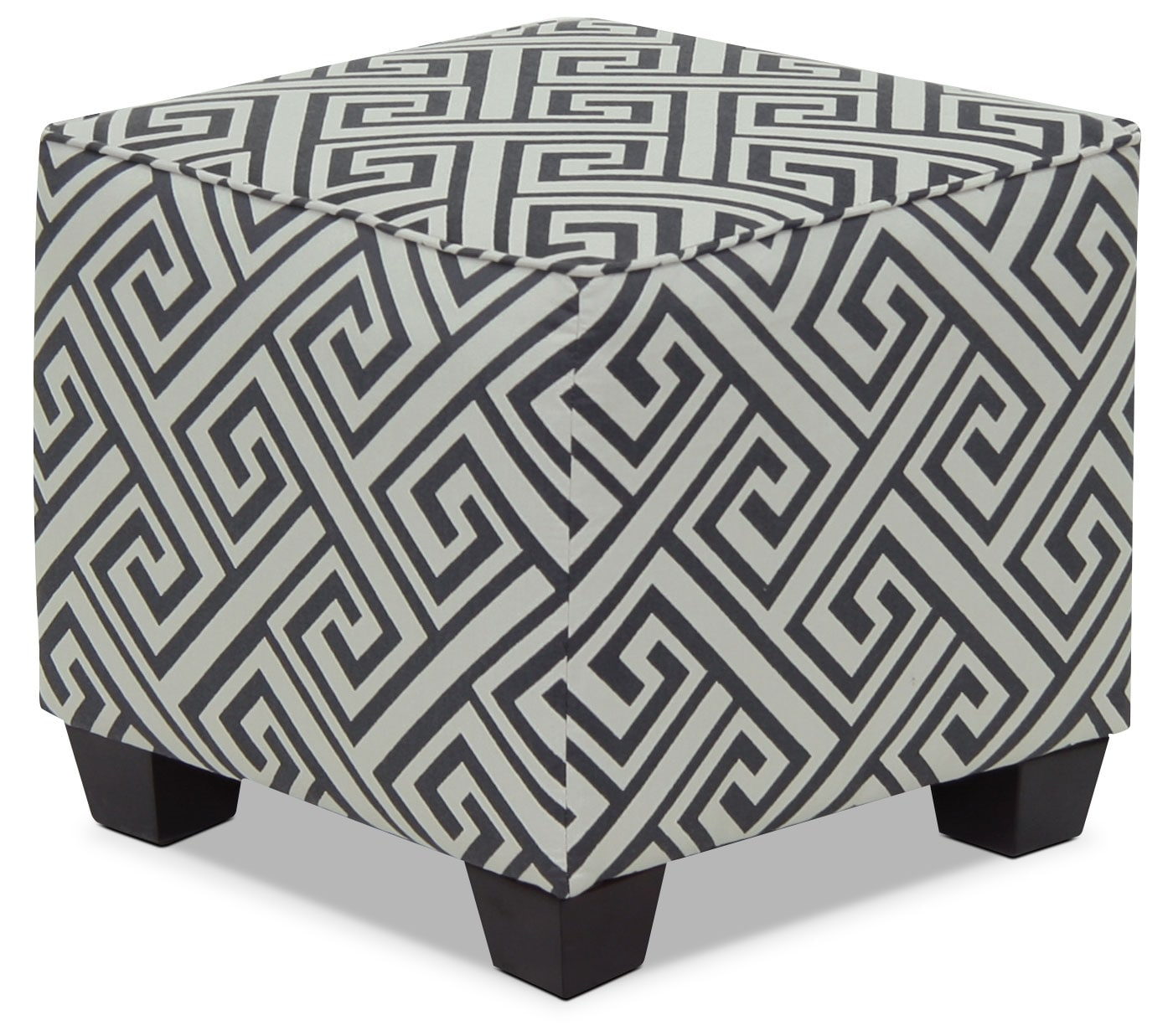 Designed2B Fabric Accent Pod Ottoman – Domino