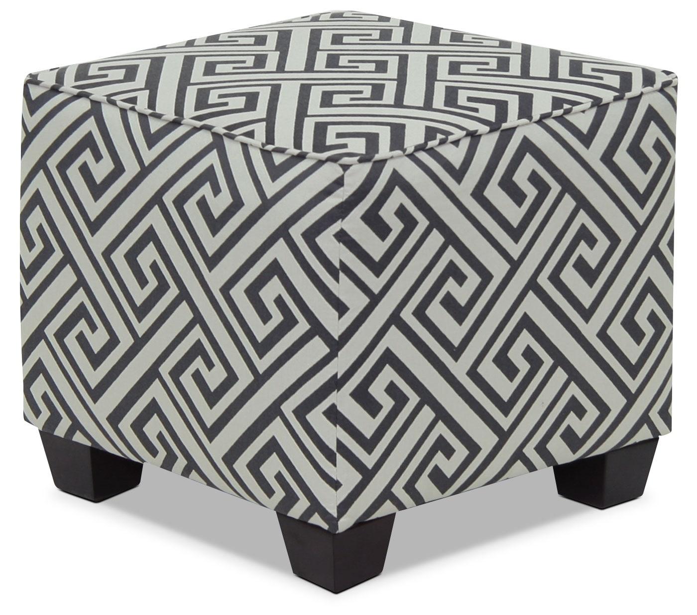 Mobilier de salle de séjour - Pouf d'appoint rond de la collection Design à mon image en tissu - domino