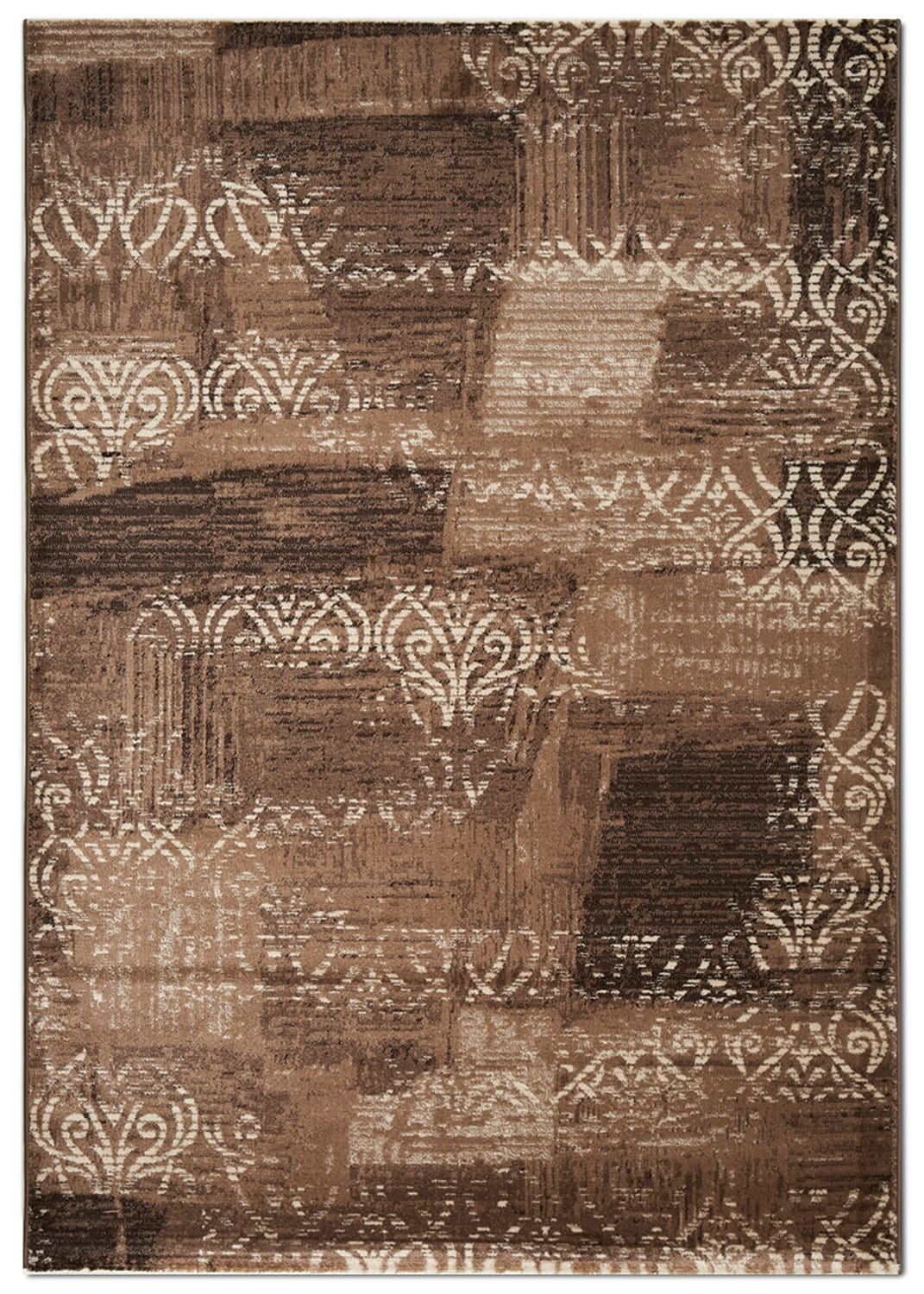 Rugs - Empire 5' x 8' Area Rug - Brown