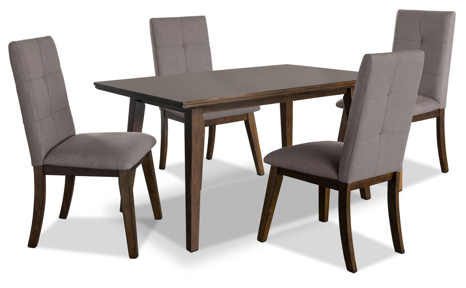 Dining Room Furniture - Chelsea 5-Piece Dining Package with Brown Chairs