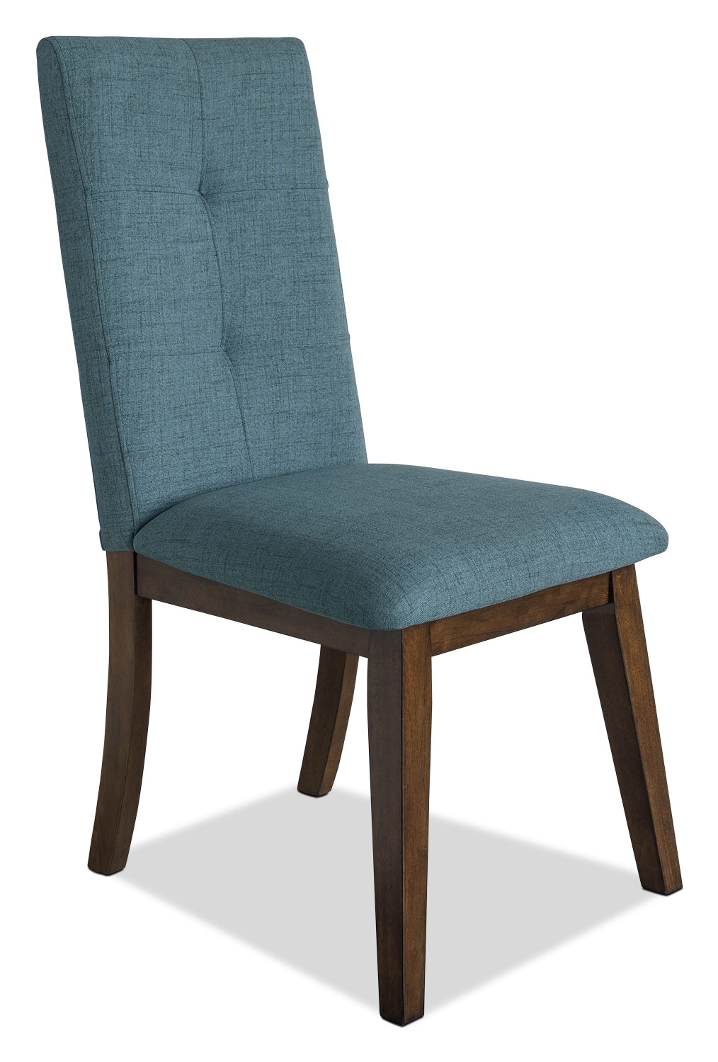 Chelsea fabric dining chair aqua united furniture for Fabric dining room chairs