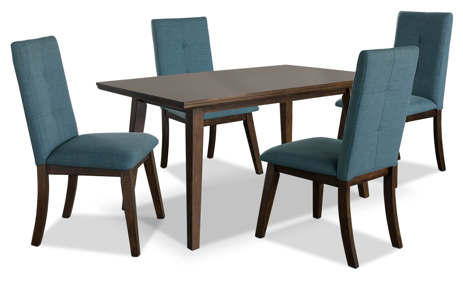 Dining Room Furniture - Chelsea 5-Piece Dining Package with Aqua Chairs