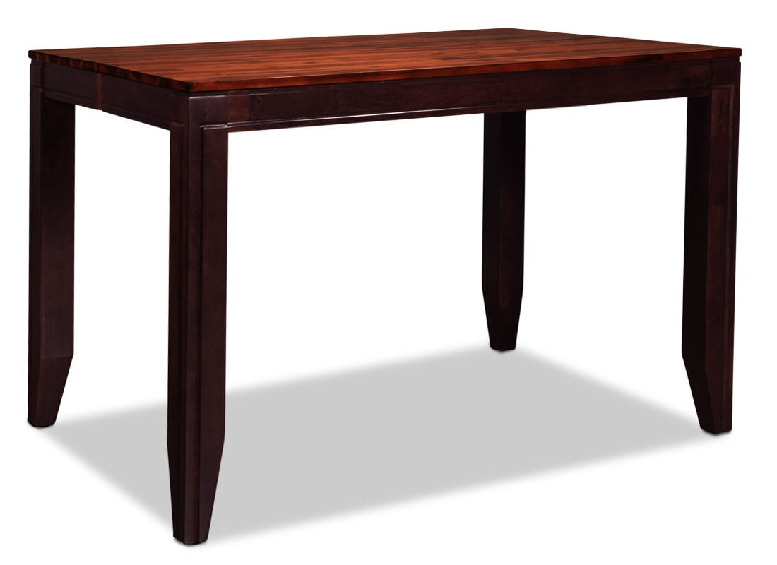 Avondale Counter-Height Dining Table - Merlot and Cherry