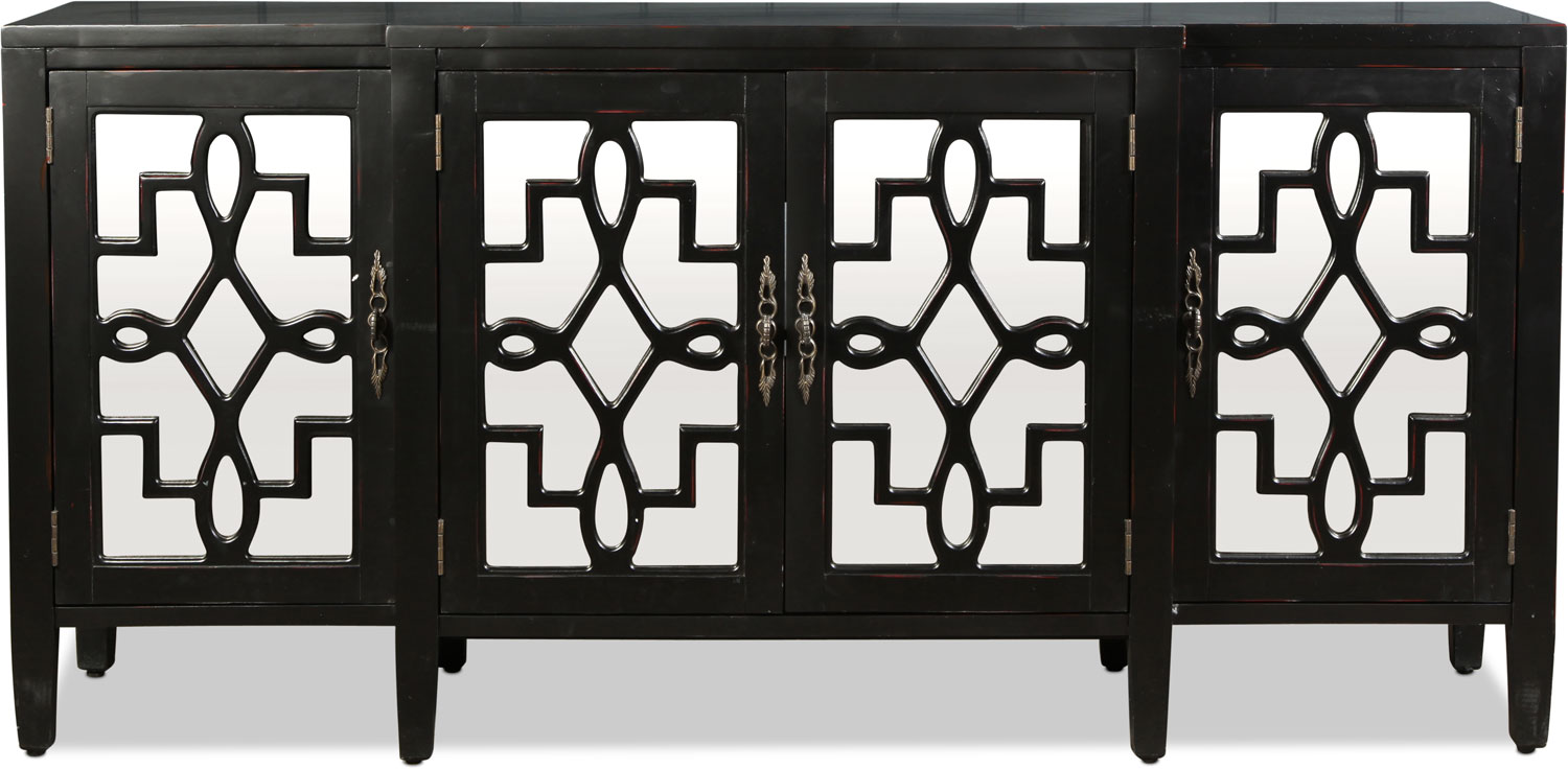 Accent and Occasional Furniture - Lawrence Credenza - Ebony