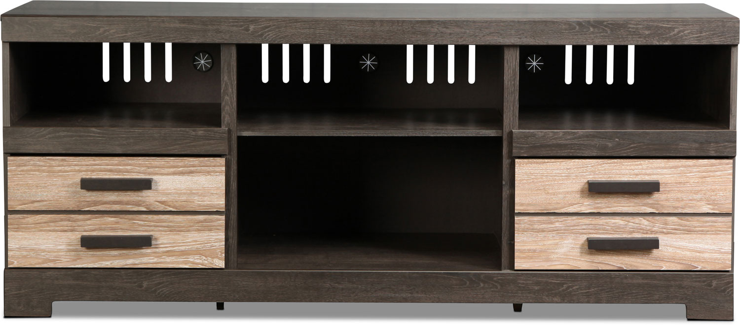Zale TV Stand - Gray Vintage with Faux Oak