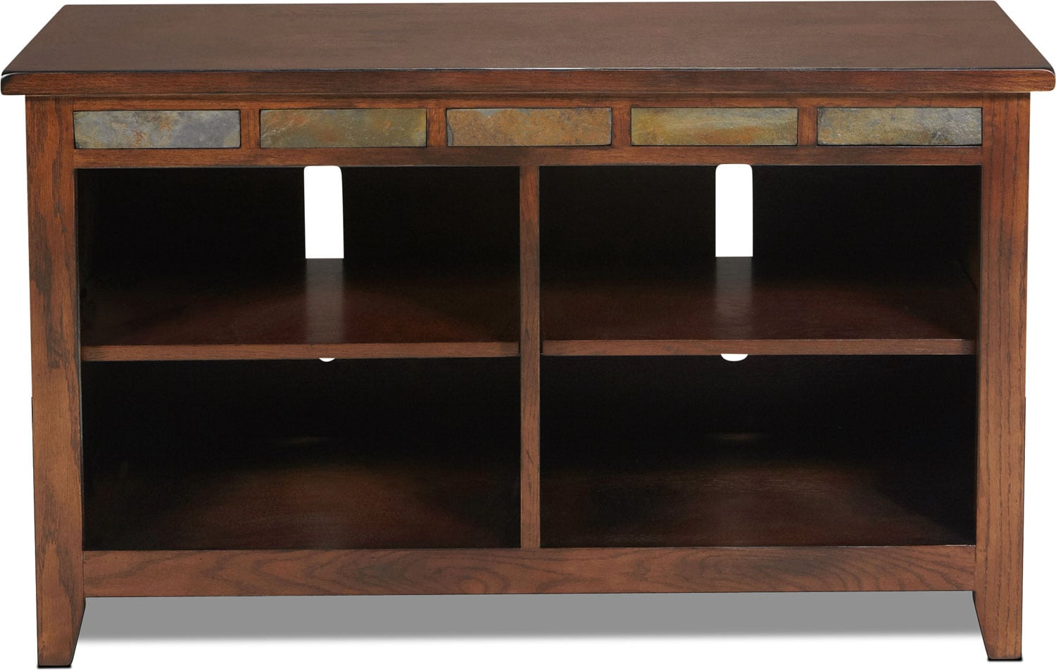 """Entertainment Furniture - Texico 42"""" TV Stand - Dark Oak with Slate"""