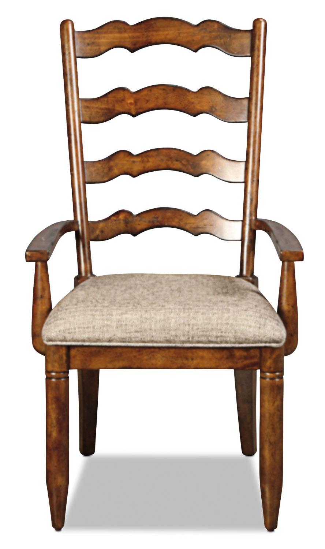 Elkmont Pine Arm Chair - Dark Umber
