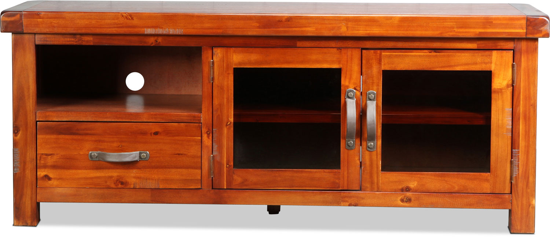"Entertainment Furniture - Brisbane 64"" TV Stand - Distressed Chestnut"