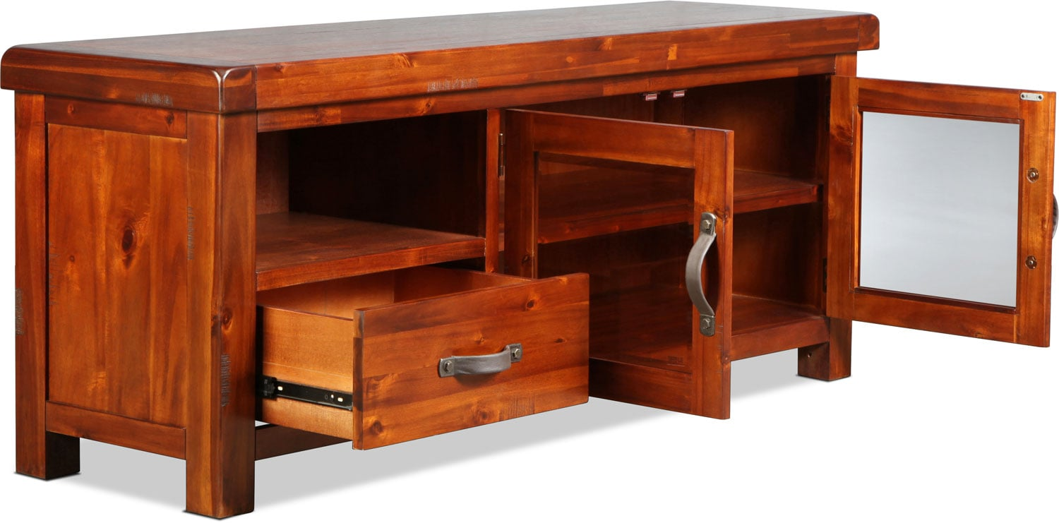 Brisbane 64 Tv Stand Distressed Chestnut Levin Furniture