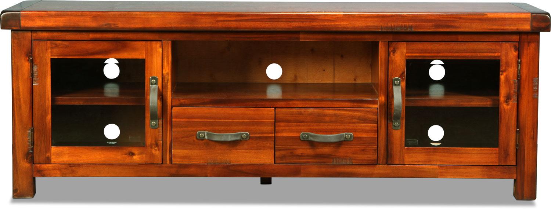 "Entertainment Furniture - Brisbane 74"" TV Stand - Distressed Chestnut"