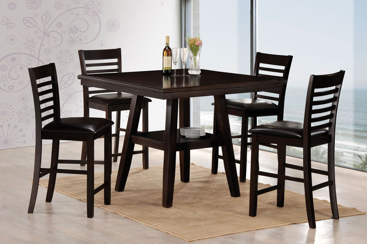 Everwood counter height table levin furniture for Dining room furniture 0 finance