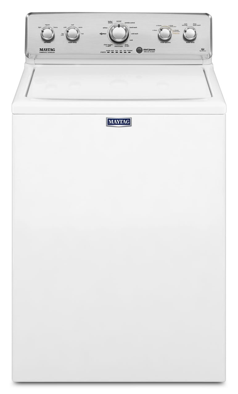 Washers and Dryers - Maytag 4.2 Cu. Ft. Top-Load Washer – MVWC416FW