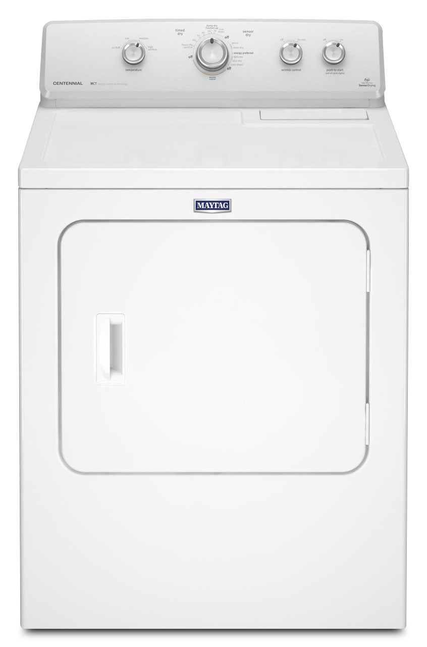 Washers and Dryers - Maytag® 7.0 Cu. Ft. Extra-Large Capacity Electric Dryer– White